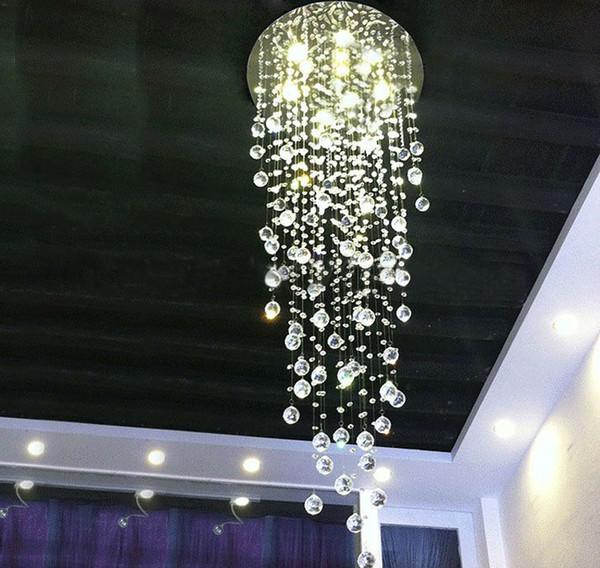 Современный Comtemporary дождь сверху K9 LED хрустальная люстра потолочное освещение све фото