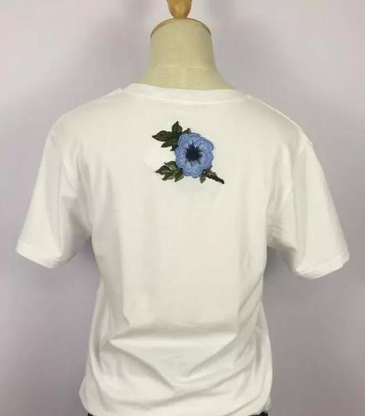 2017 Yeni yaz mektuplar baskılı pamuk gevşek G T-shirt yuvarlak boyun kısa kollu nakış kısa kollu tişört boyutu S-XL