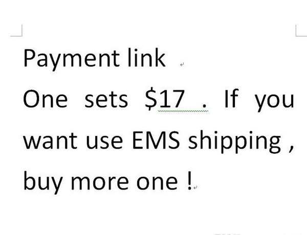 payment link for shipping and other cost 2018