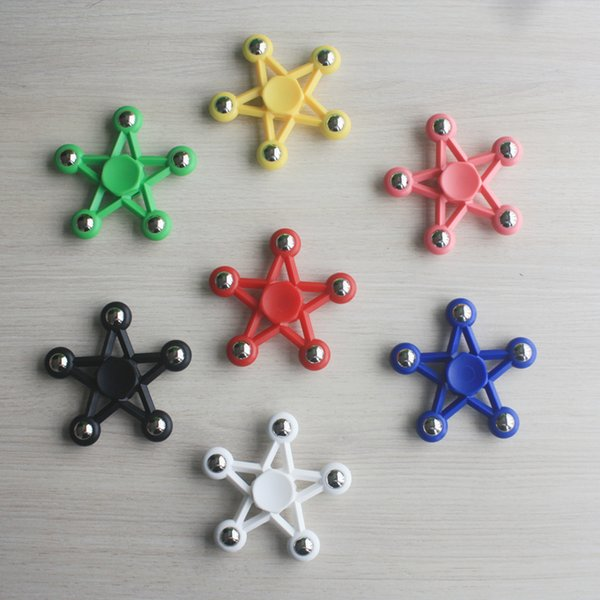 Five Star Fidget Spinner Toy Fidget Spinner Toy Star HandSpinner EDC Toy For Decompression Anxiety Toys With Retailed Box Free Shipping