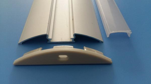 Бесплатная доставка новых прибывают 2000mmX56.7mmX8.5mm 2 м / шт. 40 шт. / Лот светодиодный алюминиевый профиль для светодиодной ленты 5050 10-12 мм края печатной платы светодиодные полосы канала
