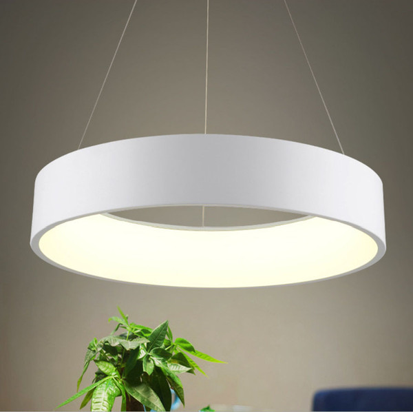 Modern round LED pendant lamp 3 colors D45cm D60cm ceiling lamp indoor lighting fixture for living room bedroom dining room lamparas techo (lampandlighting) Dayton Sell stuff