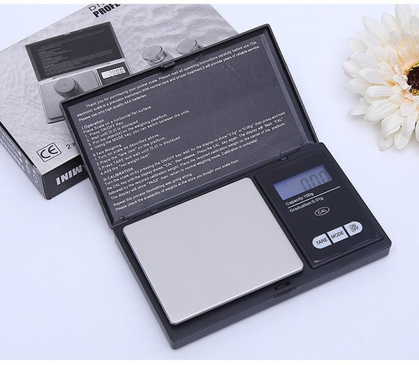 100g 0 01g mini lcd electronic pocket cale tainle teel portable jewelry gold diamond weighting balance cale hipping