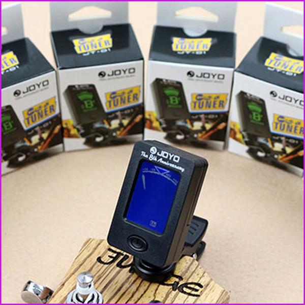 360-градусный вращающийся JOYO-гитарный басовый тюнер JT-01 Mini LCD Clip-on гитарный тюнер дл фото