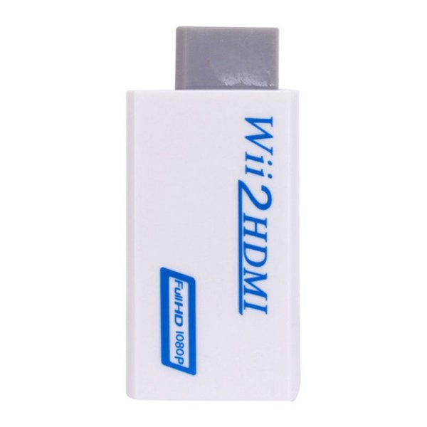 100pc  lot   upport 720p 1080p original for wii to for hdmi adapter converter 3 5mm for wii2hdmi