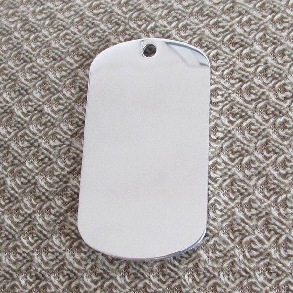 20pc tainle teel army dog tag mirror urface blank and la er engravable thickne 1 8mm pendant