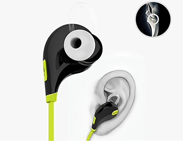 In-ear Bluetooth Headphone QCY QY7 4.0 Stereo Earphone Running Headsets Studio Music Earphone With Mic In Retail Box