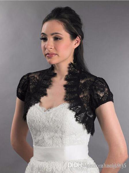 Кружева болеро куртки для вечерних платьев черные свадебные куртки с капюшоном р