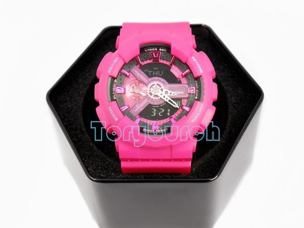 Новые цвета в 2017 Autolight relogio мода 110 с коробкой Мужские спортивные часы, все указатели работы 3atm водонепроницаемость высокое качество