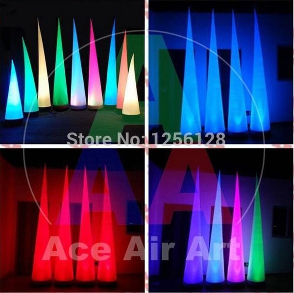 3m high lighting inflatable cone  air cone for wedding  tage decoration with rgb led light