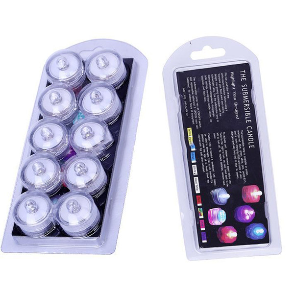 Led ubmer ible waterproof candle light lamp chri tma gift fi h tank va e tea wedding party home decoration light multicolor