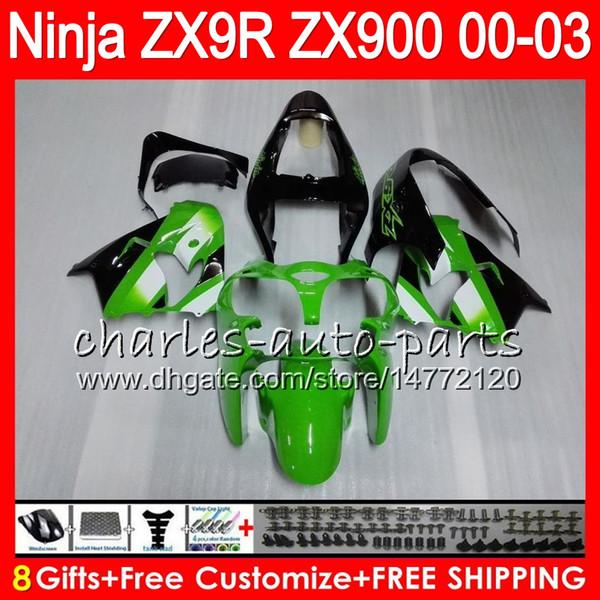 8gift 23color for kawa aki ninja 900cc zx9r 00 01 02 03 40no1 zx 9r zx900 zx 9 r zx900c zx 9r 2000 2001 2002 2003 fairing kit