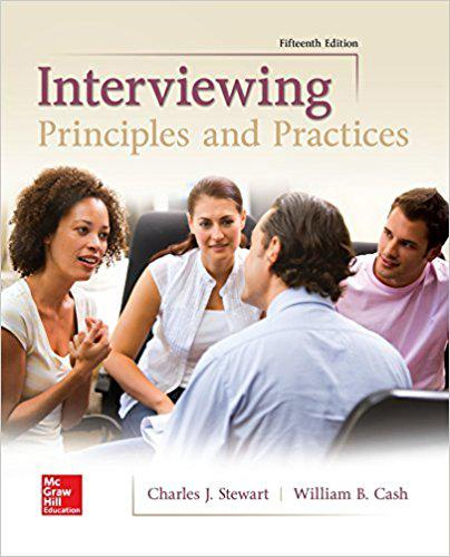 Interviewing Principles and Practices (Communication) 15th Edition park888