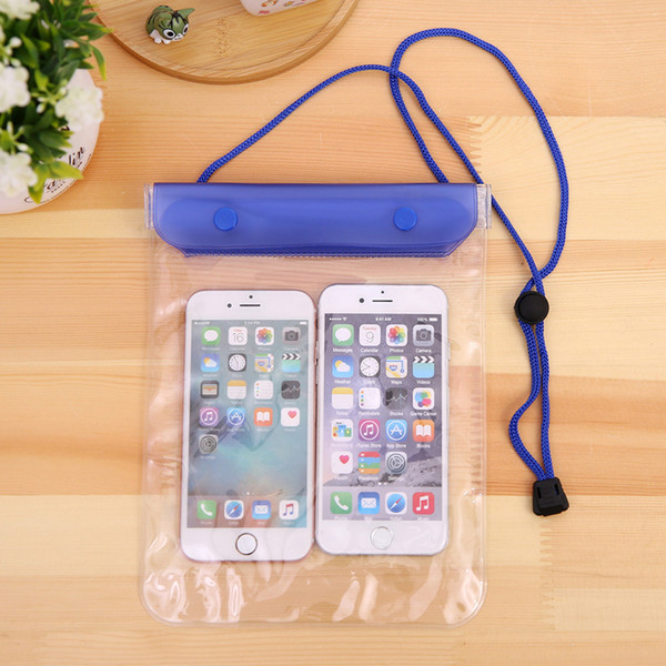 Clear waterproof pouch dry ca e cover for camera mobile phone waterproof bag  for iphone  am ung htc 100pc   hipping