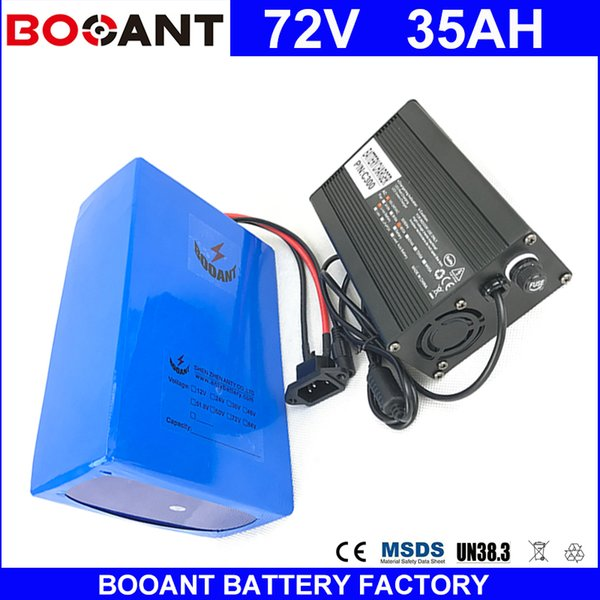 Booant e bike li ion battery pack 72v 35ah for bafang 3000w motor electric bicycle battery 20 14p battery pack with 5a charger