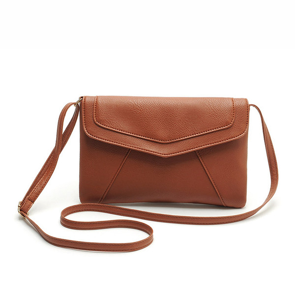 wholesale- pu leather women envelope messenger bags slim crossbody shoulder bags handbag small cross body bags satchel ladies purses 2017 (404937099) photo