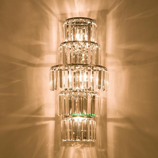 Отель лобби Кристалл настенный светильник отель проект Вилла фойе огни пентхаус