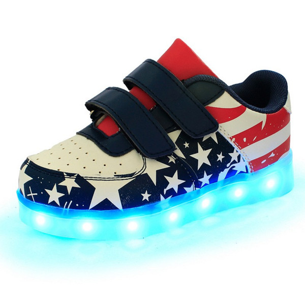 Children Led Shoes Kids Casual Multi Wings Shoes Colorful Glowing Baby Boys and Girls Sneakers USB Charging Light up Shoes