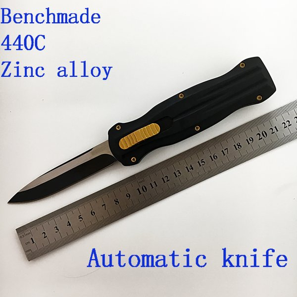 Benchmade outdoor automatic knife Spring model portable tactical knife collection 1 PC free shipping 440 c zinc aluminium alloy