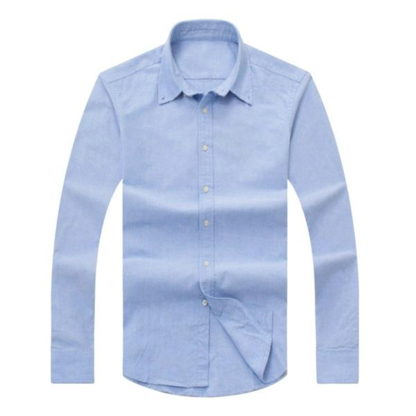 2017 new autumn and winter men's long-sleeved cotton shirt pure men's casual POLOshirt fashion Oxford shirt social brand clothing lar
