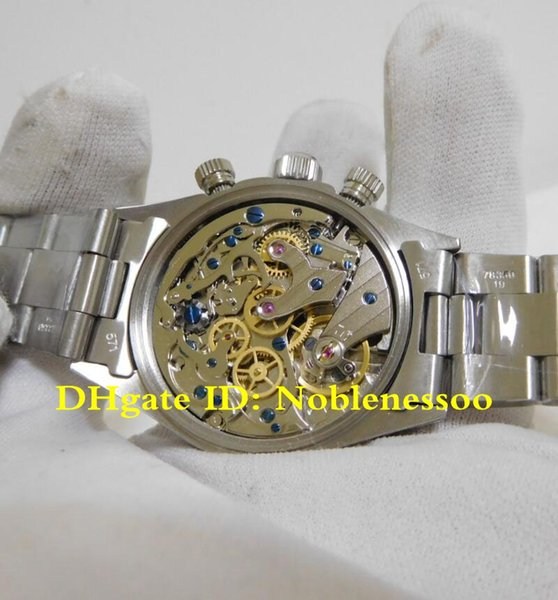 Top Luxury Vintage Stainless Steel Watch 6263 38mm Cosmograph Chronograph ETA 7750 Movement Mechanical Hand-winding Mens Watches