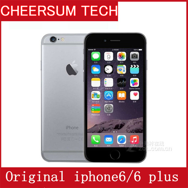 Refurbi hed iphone 6 cellphone 16gb 64gb 128gb 100  original apple iphone 6 plu  with touch id function 4 7 quot  5 5  039   039   martphone