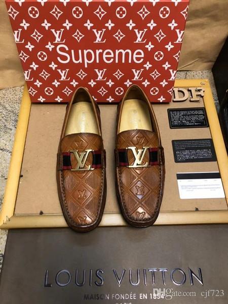 Высокое качество мужские дизайнерские слайды обувь мужская платье повседневная