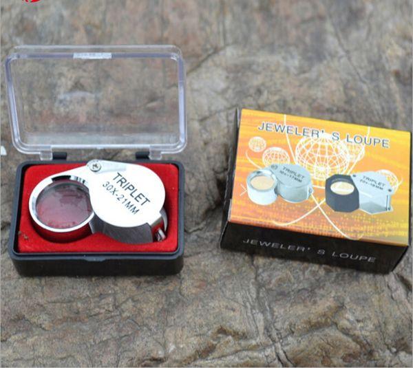 Mini 10x 20x 30x loupe magnifier magnifying triplet jeweler  eye gla   jewelry diamond apprai al worldwide  hipping