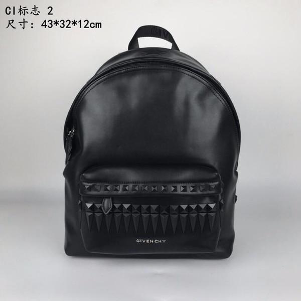 2018 новый сумка логотип печати рюкзак топ полный кожаный ручка регулируемый плече