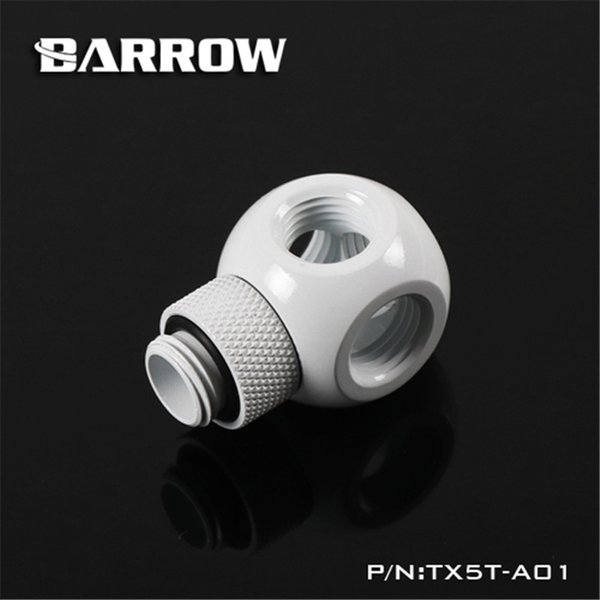 Barrow g1 4 360 degree rotary fitting rotary metalic cube tee 5 way for computer water cooling tx5t a01