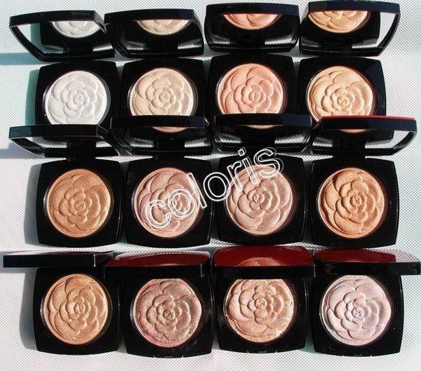 Makeup illuminating powder himmer pre ed face powder high en itivity with mirror 6g