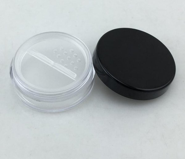 New 100pc lot 20g co metic jar with powder ifter and lid me h with powder puff empty box jar container makeup powder n2175