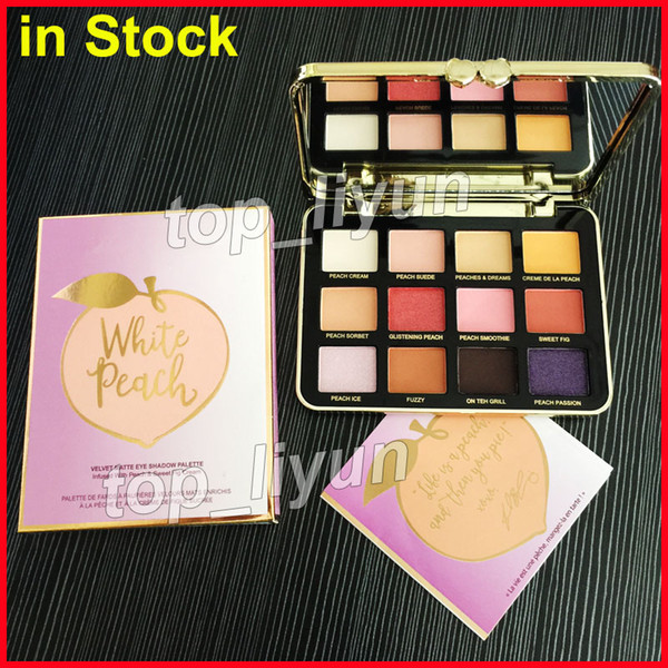 12 color white peach eye hadow velvet matte palette makeup face  weet peach  himmer eye  hadow palette dhl  hipping