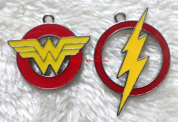 Горячо ! 50 шт. DC супер герой Чудо-женщина Флэш-подвески металлические подвески DIY ю фото