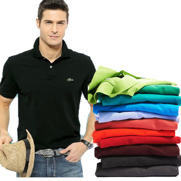 High Quality Tops&Tees Men's Polo shirts Business men brands Polo Shirts 3D embroidery Turn-down collar mens polo shirt 9099 (yt262231) Glendale Buy Sell
