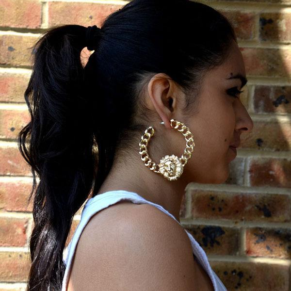 5Pairs / Lot преувеличены серьги мода хип-хоп женский сплав материал животных форма ль