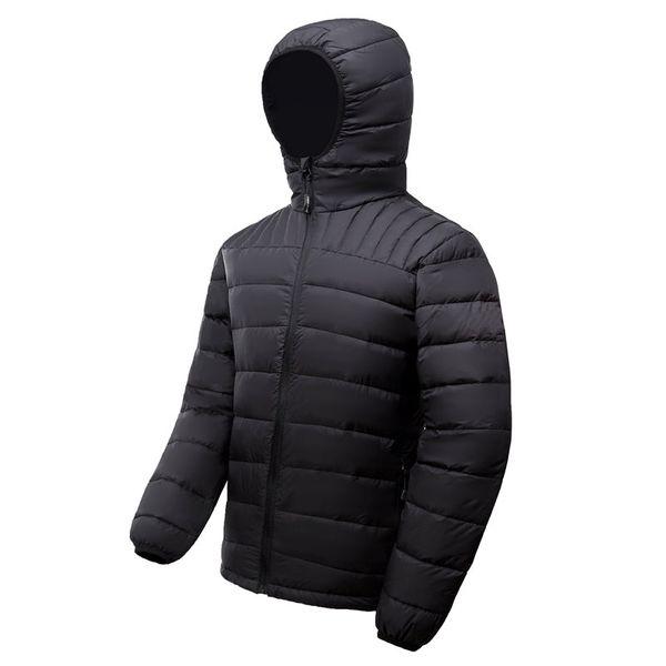 Новый стиль мужчины зимние куртки гусиный пух пальто теплый пуховик открытый кап
