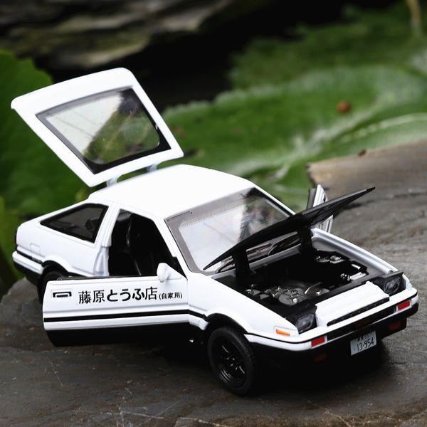 Игрушки автомобиля сплава Плашк-бросания Тойота AE86 1/28 с Ядровым светом