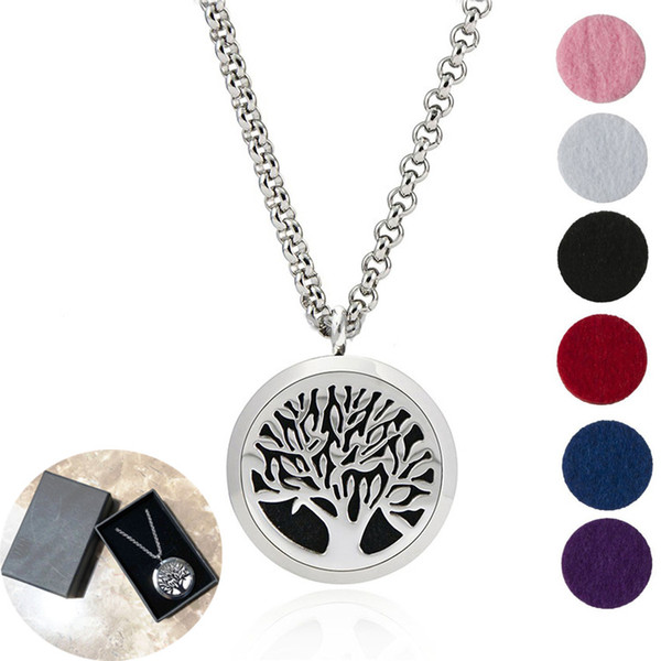 20 tyle premium aromatherapy e ential oil diffu er necklace locket pendant 316l tainle teel jewelry with 24 quot chain and 6 pad
