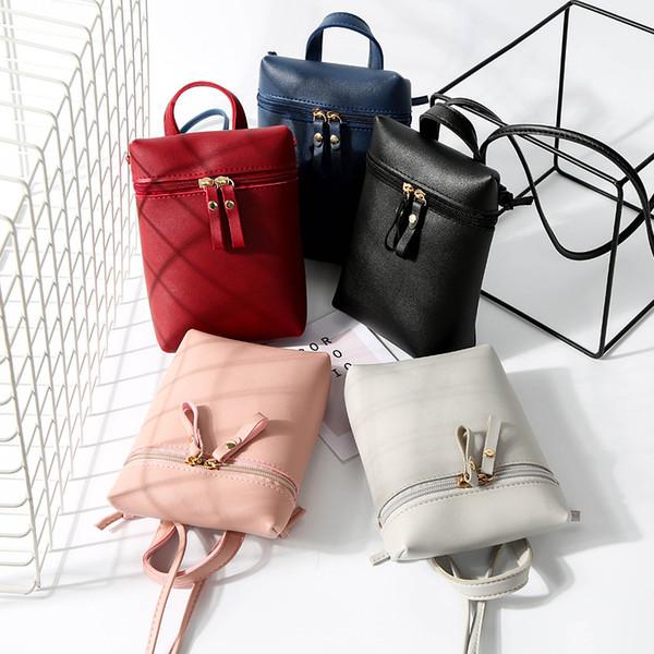 2018 women crossbody shoulder messenger bag fashion solid small design casual portable purses crossbody bag messenger purses (420979731) photo