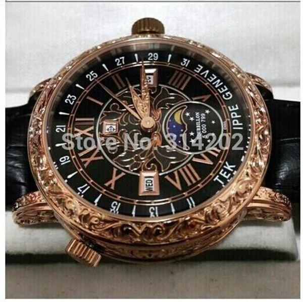 Горячий продавать роскошные часы мужские часы движение Кожаный ремешок часы Мужские часы кварцевые часы движение Мужские Наручные часы фото