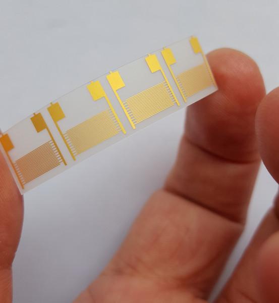 100um Polyethylene terephthalate Capacitor Sensor Gold Electrode PETFlexible Interdigitated Electrode 10mm*10mm