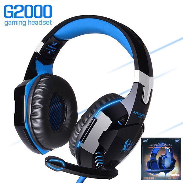 g2000 gaming headset over-ear gaming headphones surround stereo noise reduction with mic led light for nintendo switch pc game in box