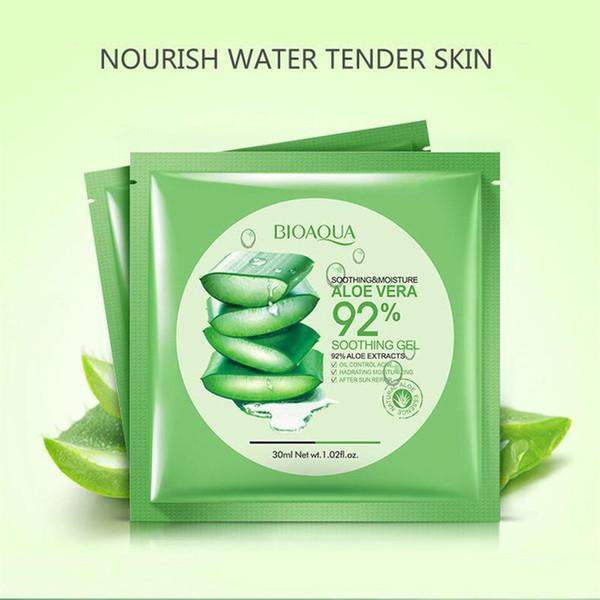 2018 bioaqua natural aloe vera gel face ma k moi turizing oil control wrapped ma k hrink pore facial ma k co metic kin care