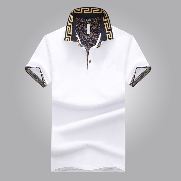 Hot Sales Shirt  Design Male Summer Turn-Down Collar Short Sleeves Cotton Shirt Men Top