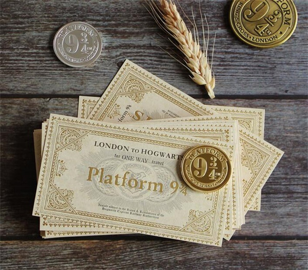 New 2019 world of harry potter hogwart london expre replica train ticket hogwart expre train ticket ornament paper toy for kid fan