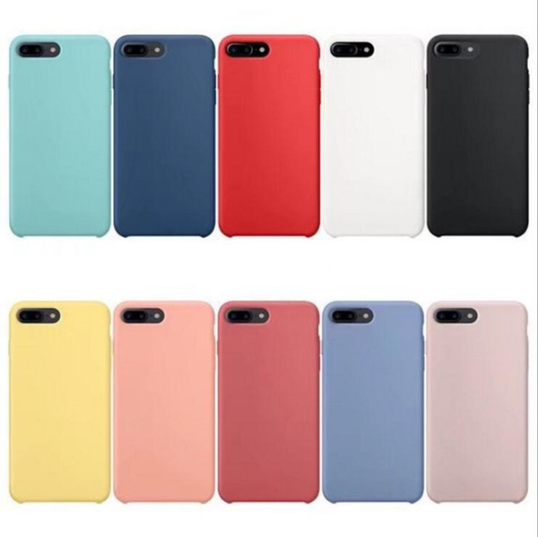 Hybrid gel rubber liquid ilicone ca e for iphone x ma xr x 8 7 plu cla ic bumper hockproof drop protective cover for apple iphone 2018