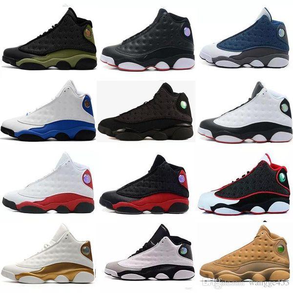 2020 13 13s Мужчины Женщины Баскетбол обувь Разводят Черный Красный Коричневый Белый фото