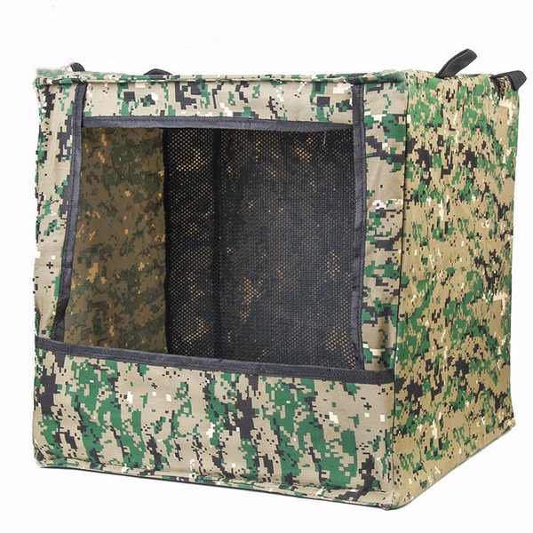 men's portable foldable outdoor box-type airsoft shooting game target case for slingstraning purpose canvas fabric box thumbnail