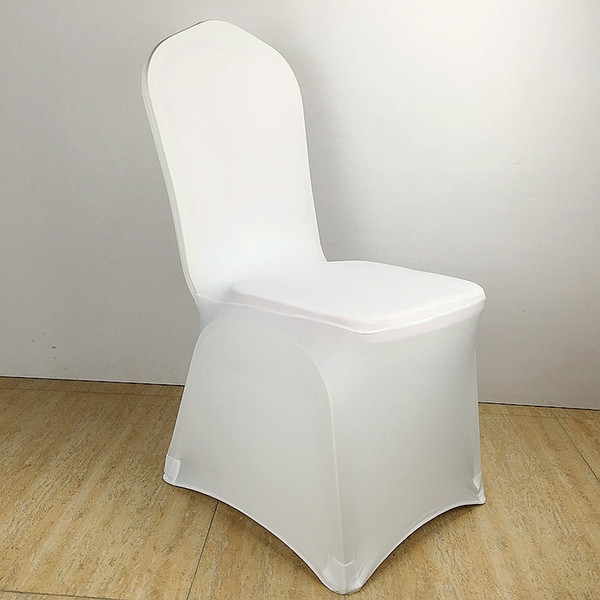 Colour white chair cover pandex lycra ela tic chair cover trong pocket for wedding decoration hotel banquet whole ale